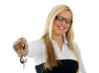 How to rent my property - woman handing over keys