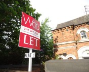 Woo To Let board demonstrating their tenant find service